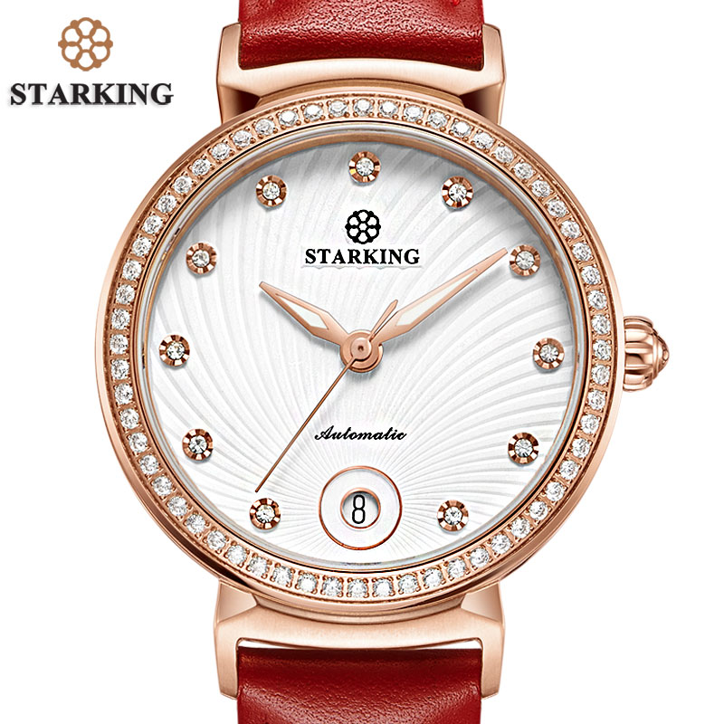 STARKING Top Brand Automatic Mechanical Watch Women With Date Fashion Trending Modern Design Watch Montre Femme Relogio Feminino цена 2017
