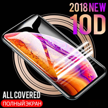 8D Full Curved Soft Hydrogel Film For iPhone 8 7 6 6S Plus Screen Protector XS Max XR X Protective Not glass