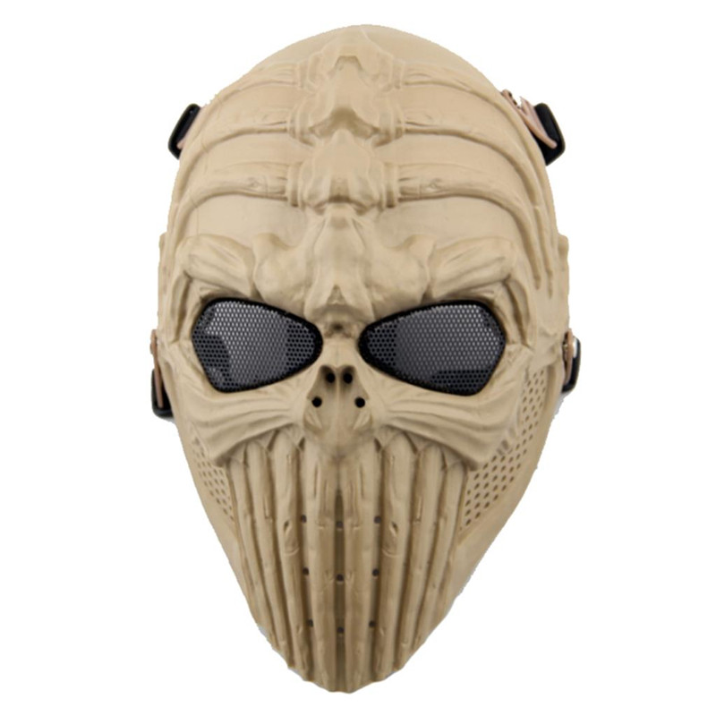 DC07 Spine Tingler Full Face Skull Skeleton Protective Military Tactical Airsoft Mask Paintball Wargame Cosplay Halloween Party