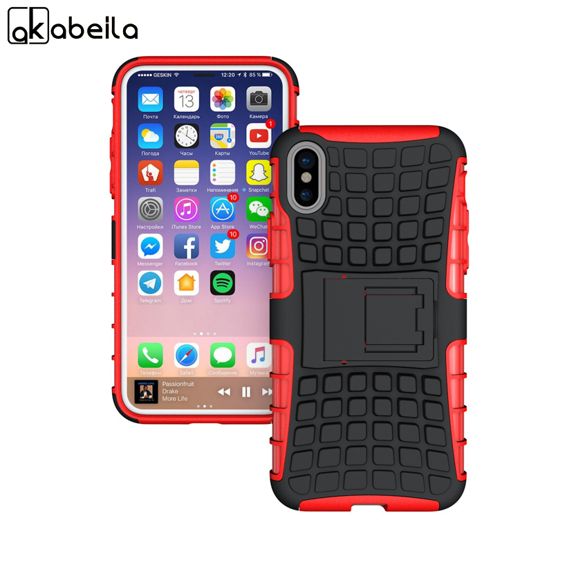 AKABEILA Cases For Apple iPhone X iPhone 10 iPhone Ten 5.8 inch Shell Armor Hybrid Tyre Bag Cover Protective Skin Shell Housing