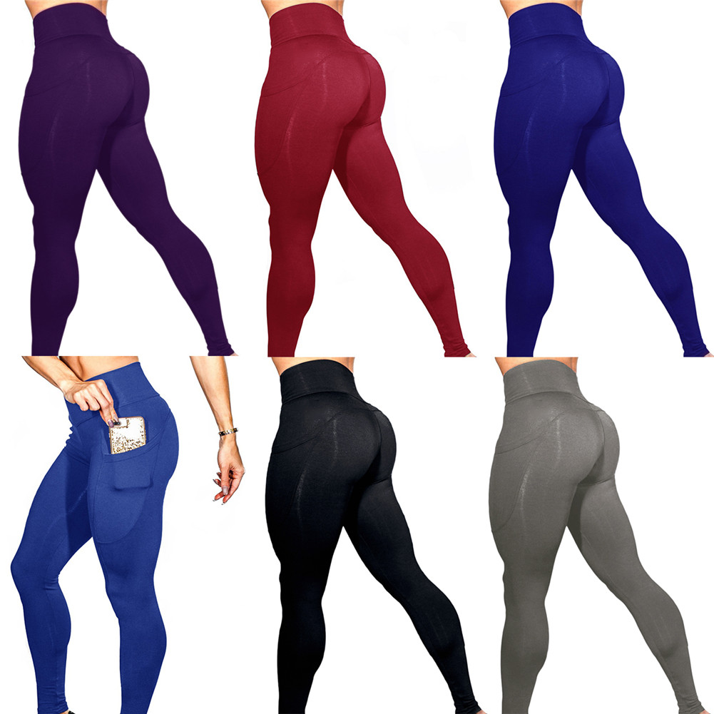 5e026679b4227 Material: Polyester Size: S/M/L/XL Use: Yoga, Running, Outdoor, Workout,  Fitness, Gym Sport, Daily Life Package Includes: 1 * Solid Color Womens  Leggings