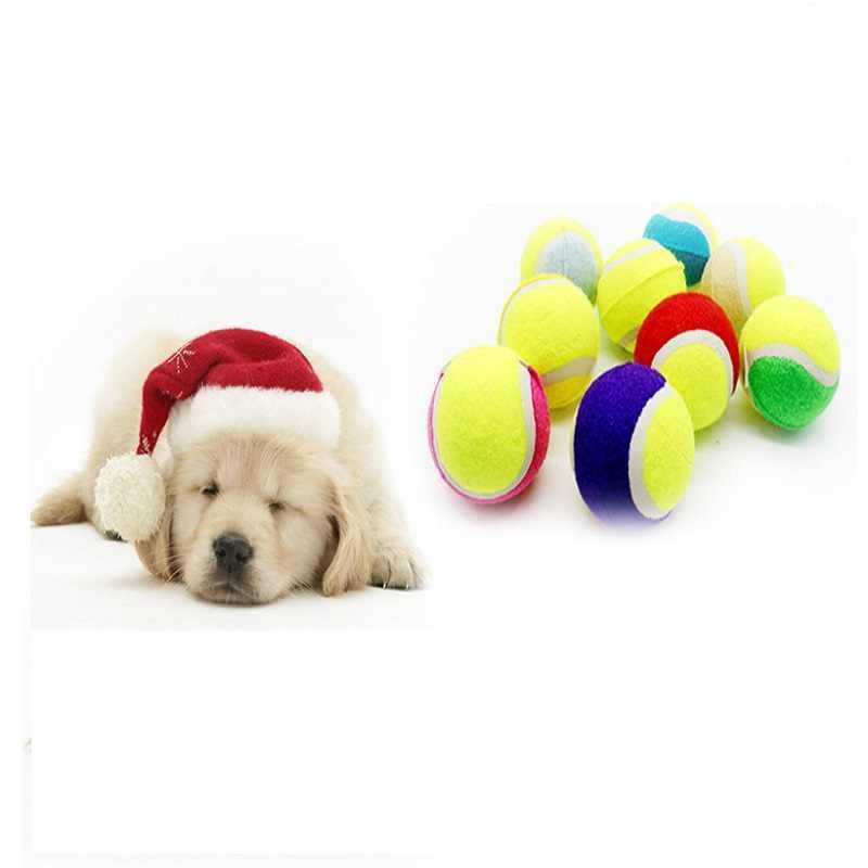 สัตว์เลี้ยงสุนัขเทนนิสลูก Interactive ของเล่นสุนัขลูกสุนัข Elasticity Ball Chew ของเล่นสุนัขของเล่นลูกสุนัขทำความสะอาดฟันการฝึกอบรมของเล่นของขวัญอุปกรณ์