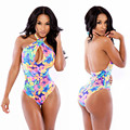Summer Beach Boho Mujeres Body Shorts Mamelucos Flaco Party Club Wear Femininals Florals Impreso Mono Del Mono Superior