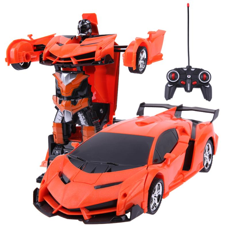 2 in 1 Transformation Wireless RC Remote Control Car Model Deformation Robot Kids Toy Gift for Children High Quality rastar car 1 14 high quality rc deformation robot car usb charge remote control changeable robot car toy for children gift