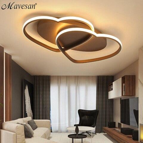 led lustre lampada de teto iluminacao moderna plafondlamp coracao em forma de luz para sala