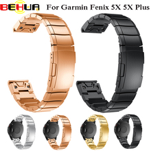Stainless Steel Quick release Replacement Easy Fit Band Strap For Garmin Fenix 5X GPS Fenix 3 3 HR Smart Watch Straps Wristband