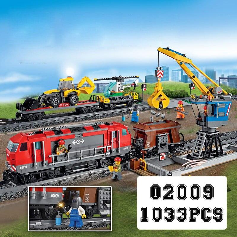 Blocs de ville la cargaison rouge RC Train télécommande ingénierie Transport Train briques de construction Legoinglys ville 60098 cadeau