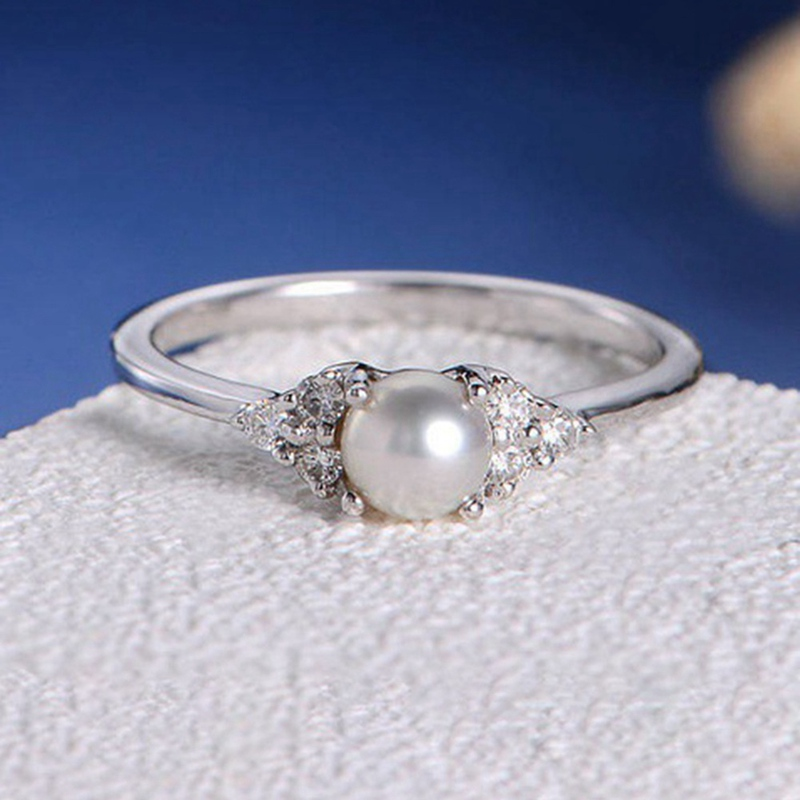 European And American Ring Imitation Pearl Wedding Rings For Women Jewelry  Engagement Rings Female Кольцо