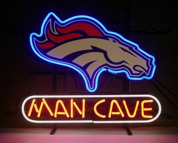 Custom MAN CAVE Glass Neon Light Sign Beer Bar Custom Made