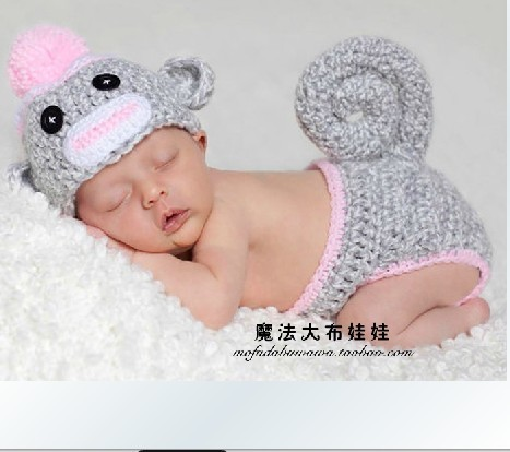 cute baby infant hand knitted costume photo photography prop newborn