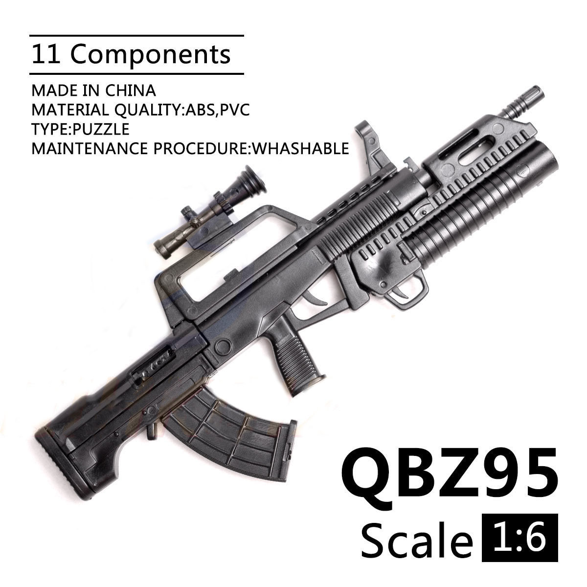 1/6 Scale PUBG Mobile QBZ-95 Rifle Toy Gun Model Assembly Puzzles Building Bricks Gun For Action Figures