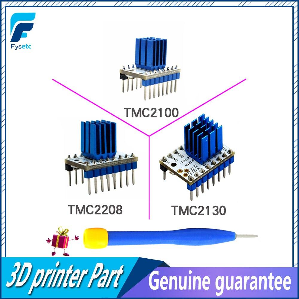 TMC2100 V1.3 TMC2130 TMC2208 V1.0 Motor paso a paso StepStick Mute conductor silencioso excelente estabilidad protección para 3d piezas de la impresora