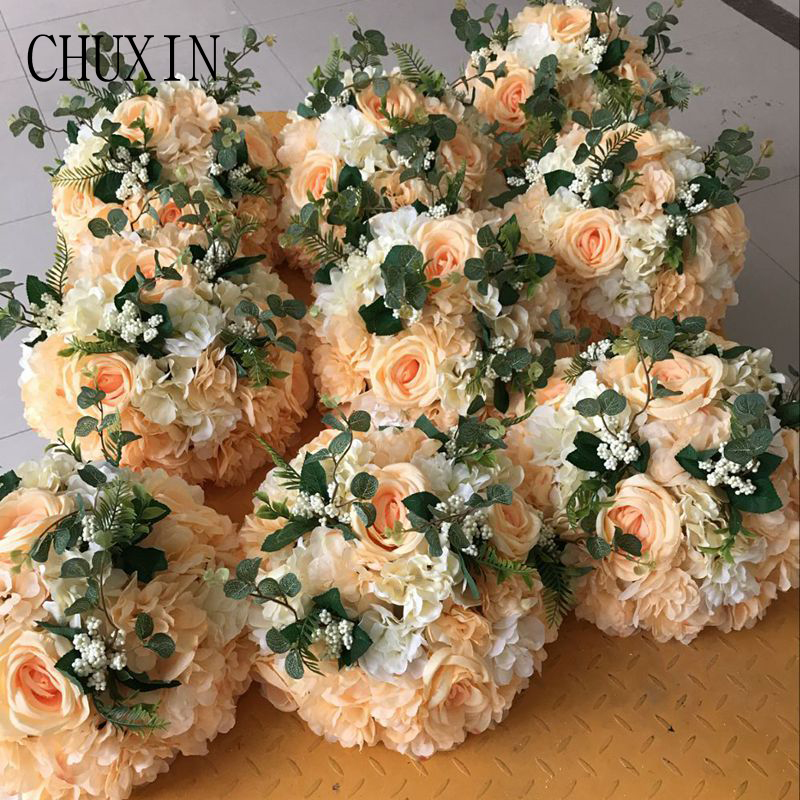 10pcs 30cm New Artificial Flower Ball Decorative Silk Flower For Wedding Decoration Arrangements Shop Party Photography
