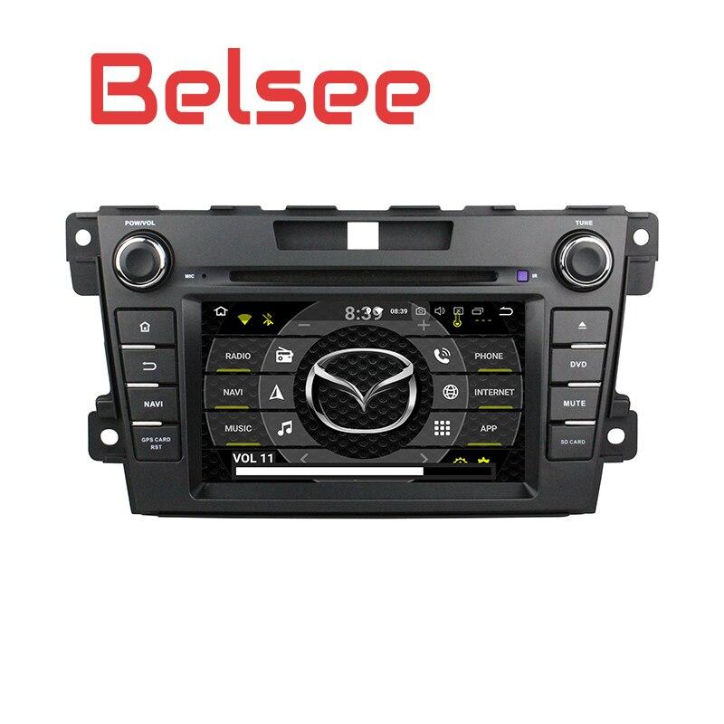 Belsee pour Mazda CX7 CX-7 2007-2015 2 Din Android 8.0 Radio stéréo Autoradio 8 Core 4 GB unité de tête GPS Bluetooth Mirrorlink WiFi