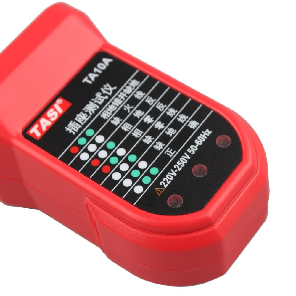 Tasi Ta10a Socket Tester Automatic Electric Portable Voltage Circuit Breaker Finders Detector For Ensure Safety Line In Resistance Meters From Tools On