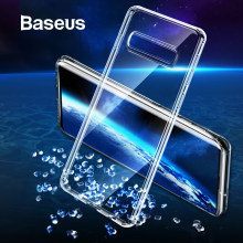Baseus Phone Case For Samsung S10 Ultra Thin Transparent Clear Soft Silicone Case For Samsung Galaxy S10 S10 Plus S10+ Cover(China)