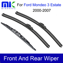 Mikkuppa Front Rear Wiper Blade For Ford Mondeo 3 Estate 2000 2001 2002 2003 2004 2005
