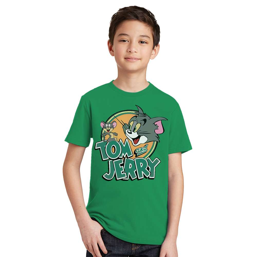 New 3 4 6 8 10 Y kid t shirt Tom and Jerry Boy Tshirt Cotton Baby t-shirt Girl Short Sleeve Tee Tops Summer Children Clothes