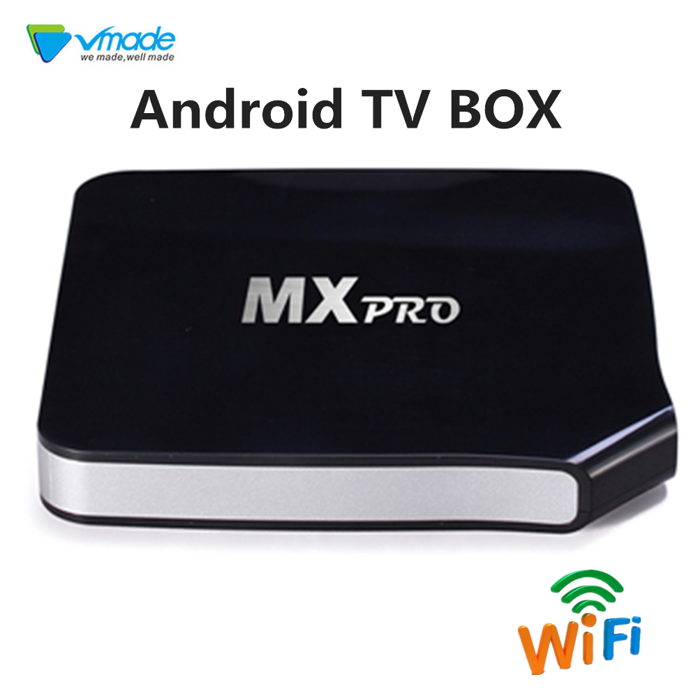 Vmade Hot selling Android TV BOX Android 6 0 OS Marshmallow MXPRO 1g 8g support 4k