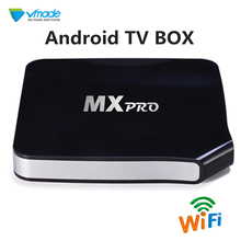 Vmade Hot-selling Android TV BOX Android 6.0 OS Marshmallow MXPRO 1g+8g support 4k Full HD 1080p IPTV Smart Set Top TV Boxes