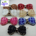 1 pair bow shoes clips accessories decorative shop shoe clip charm toe cap fabric buckle N605