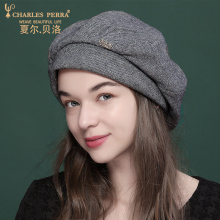 купить Charles Perra Women Hat 2019 New Wool Berets Fashion Elegant Korean Version Keep Warm Winter Hats Caps Female 4273 дешево