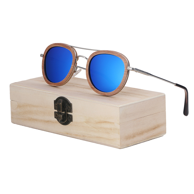 BerWer 2018 wood Sunglasses Wood Polarized Sunglasses Mens Glasses UV 400 Protection Eyewear in Wooden Original Box