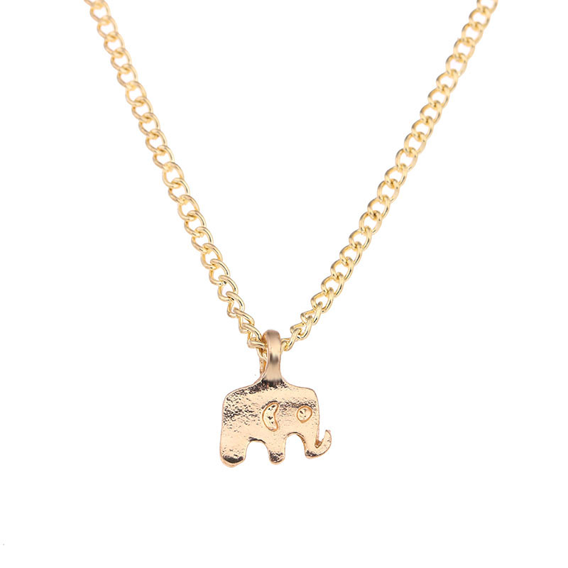 Hot sale sparkling good lucky elephant pendant necklace gold color hot sale sparkling good lucky elephant pendant necklace gold color clavicle chains statement necklace women jewelryhas card in pendant necklaces from aloadofball Images