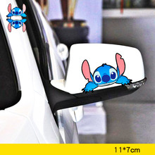 Volkrays Car Accessories Stitch Cartoon Sticker Cover Scratches Decal Decoration for Motorcycle Bicycle Fridge Audi Polo Bmw X5(China)