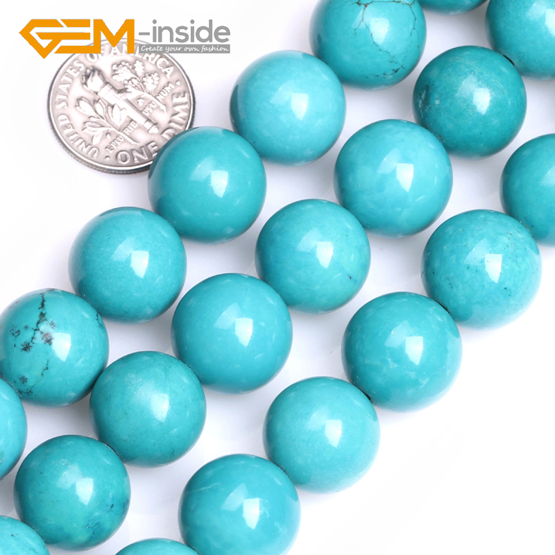 4mm 6mm 8mm 10mm 12mm 14mm Round Turquoises Beads DIY Loose Beads For Bracelet Making Strand15 DIY Gifts For Unisex! GEM-inside wholesale green color 5000 crystal glass beads loose round stones spacer for jewelry garment 4mm 6mm 8mm 10mm