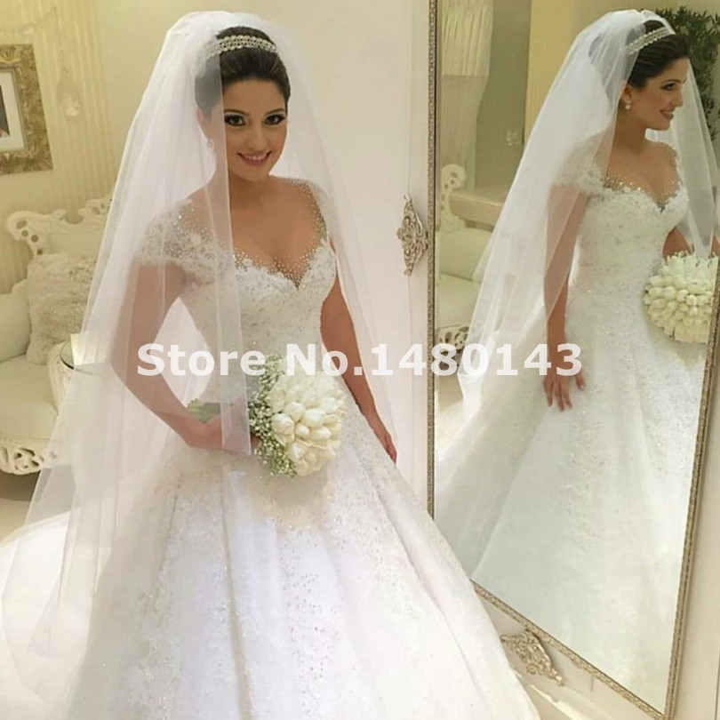 Buy sexy ball gown princess plus size for Ball gown plus size wedding dresses