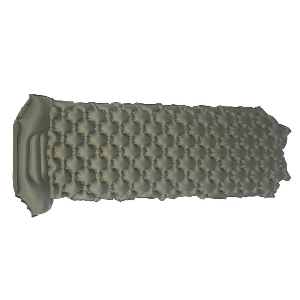 Inflable Camping Mat Tidur Cepat Mengisi Air Moistureproof Camping Mat dengan Bantal Tidur Pad Kasur Udara dan Sleeping Bag Tikar