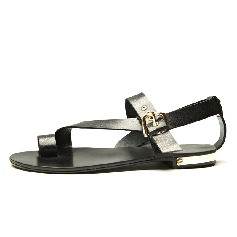 8d1e61d51 US 5 11 Men Genuine Leather Casual Beach Flat Thongs Roman Flip Flop  Gladiator Summer Sandals Outdoor Slides Shoes-in Men s Sandals from Shoes  on ...