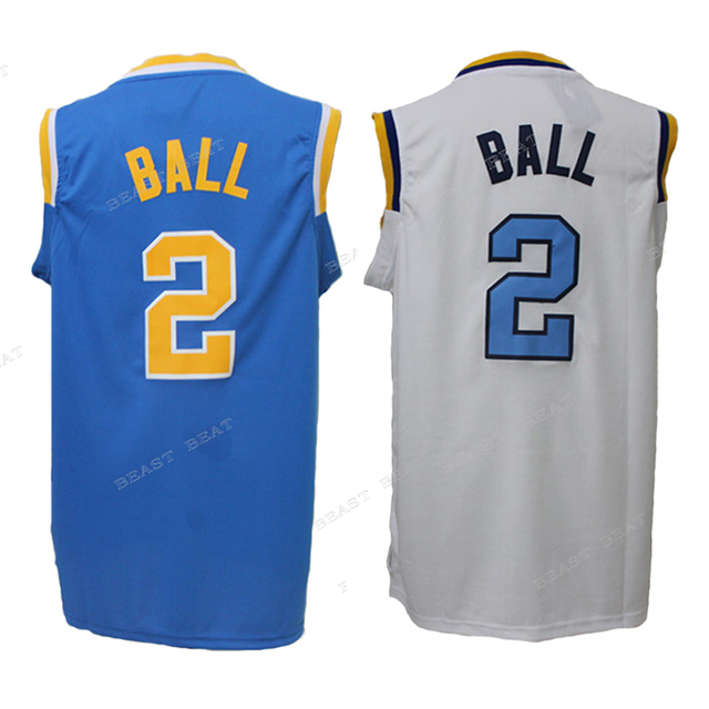 ... 2017 ucla bruins lonzo ball 2 ucla college basketball jerseys white  blue colors summer breathable nc ffd960195