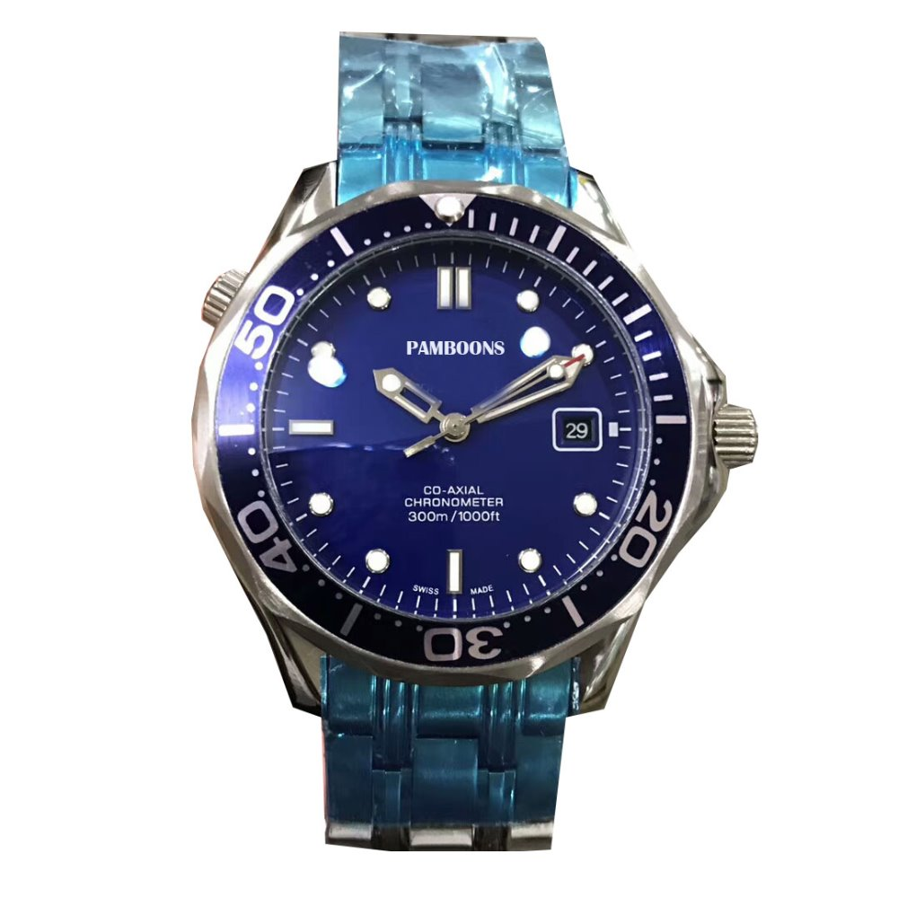 TOP QUALITY Design Watches Brand Steel Automatic Mechanical Watch Men Diver Watches 200M Waterproof Auto Date Watch Luminous tevise fashion auto date automatic self wind watches stainless steel luxury gold black watch men mechanical t629a with tool