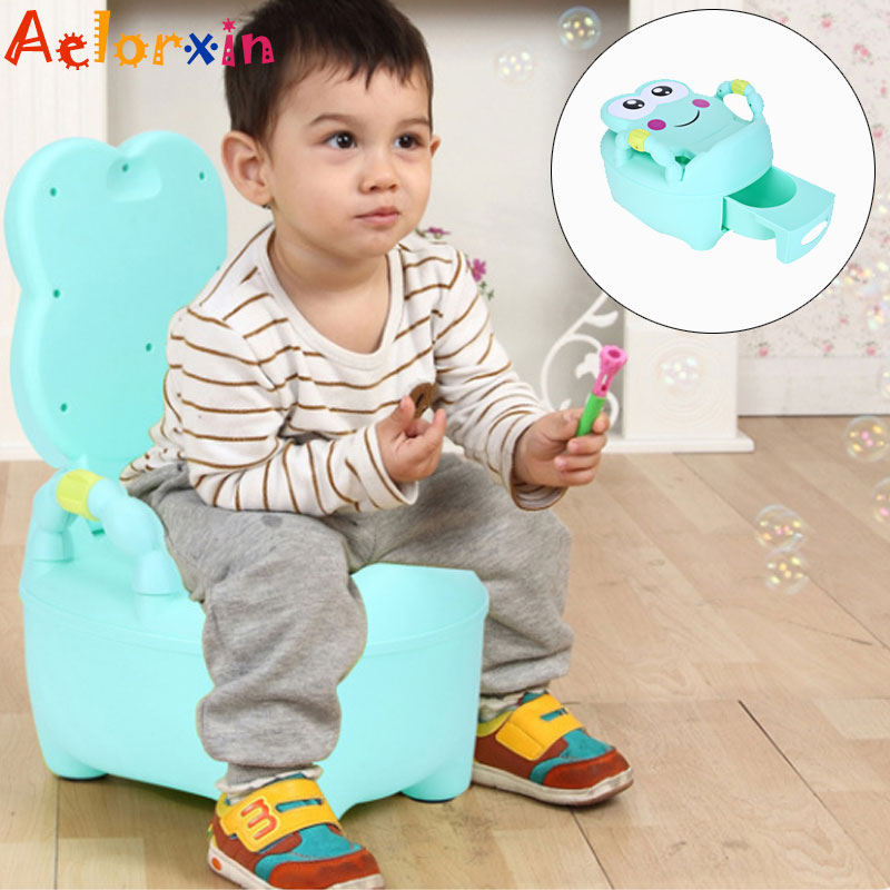 Cartoon Frog Baby Potty Training Seat Children's Potty Baby Toilet Kids Toilet Trainer Bedpan Portable Urinal Backrest Pot