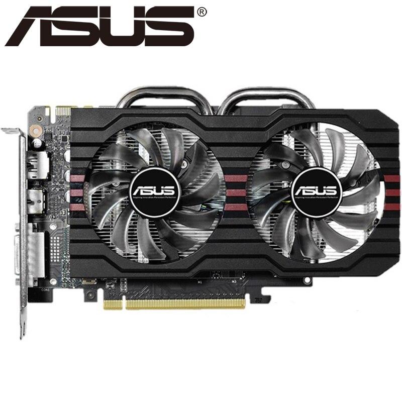 ASUS Графика карты оригинальный GTX 760 2 ГБ 256Bit GDDR5 видео карты для NVIDIA видеокартами GeForce GTX760 HDMI DVI игра используется на продажу