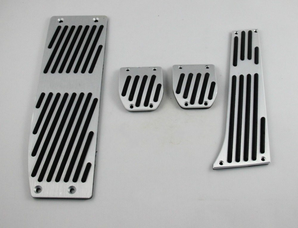 Car Accessories For BMW X1 M3 E39 E46 E87 E84 E90 E91 E92 AT/MT accelerator brake pedal pedal pad, styling sticker cover