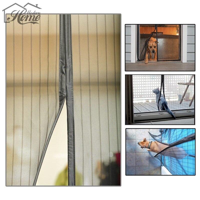 2.1*1m Hands Free Door Screen Curtain Magnetic Screen Door Mosquito Net Door  Anti Mosquito Curtains Screen Fly Insect Stop Net In Door U0026 Window Screens  From ...