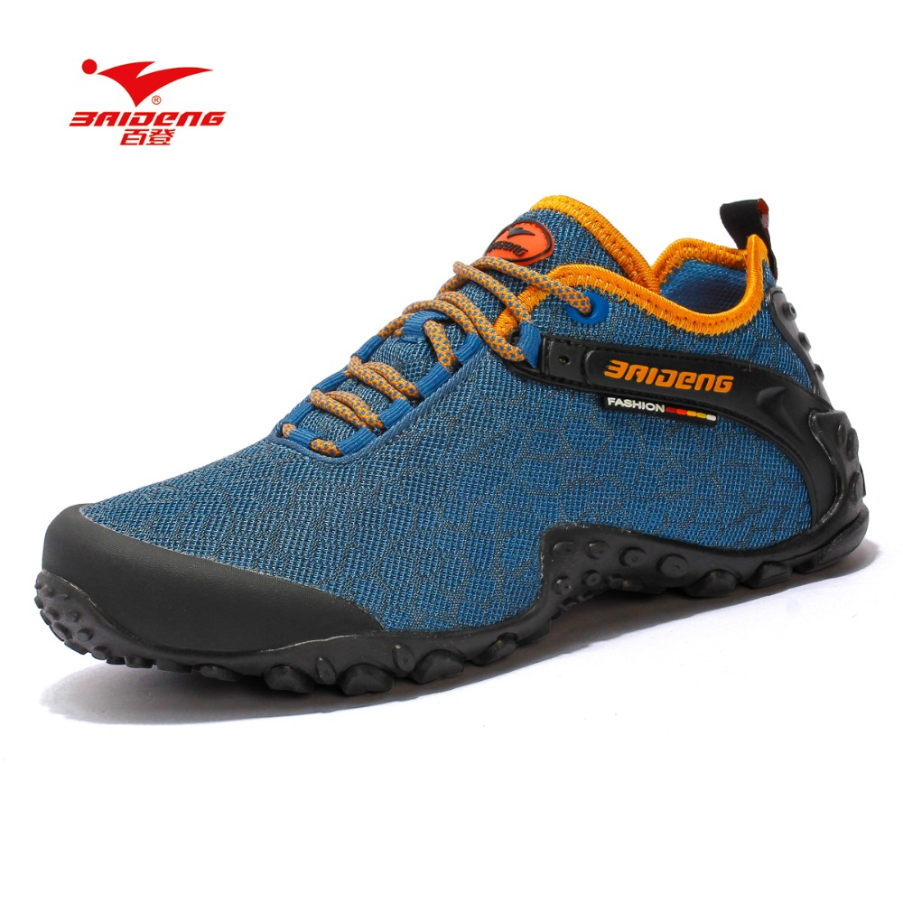 Baideng 2017 new hiking shoes mesh rubber sole men outdoor shoes Breathable soft climbing camping 39-45 size hiking shoes humtto new hiking shoes men outdoor mountain climbing trekking shoes fur strong grip rubber sole male sneakers plus size