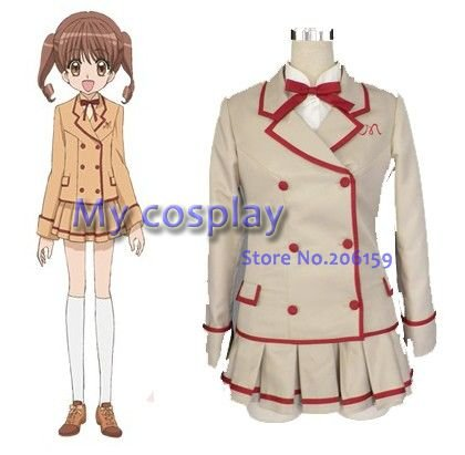 Yumeiro Patissiere Girls School Uniform Cosplay Costume Girl Dress Halloween Party Costumes-- Freeshipping