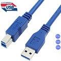 Высокое Качество USB 3.0 Мужчина УТРА до USB 3.0 B тип Мужской BM Расширение Провода Кабель для Принтера USB Кабель 0.5 м 1 м 1.8 м