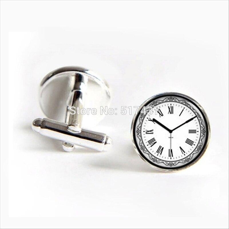 2017 Wholesale Vintage Clock Cufflinks Time Clock Cuff Link Men Cufflinks High Quality