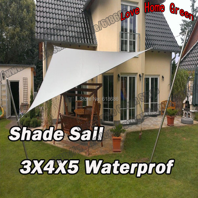 UV Waterproof Triangles Sun Shade Sail Garden Awning Combination Shade Net  3m X 4m X5m Color
