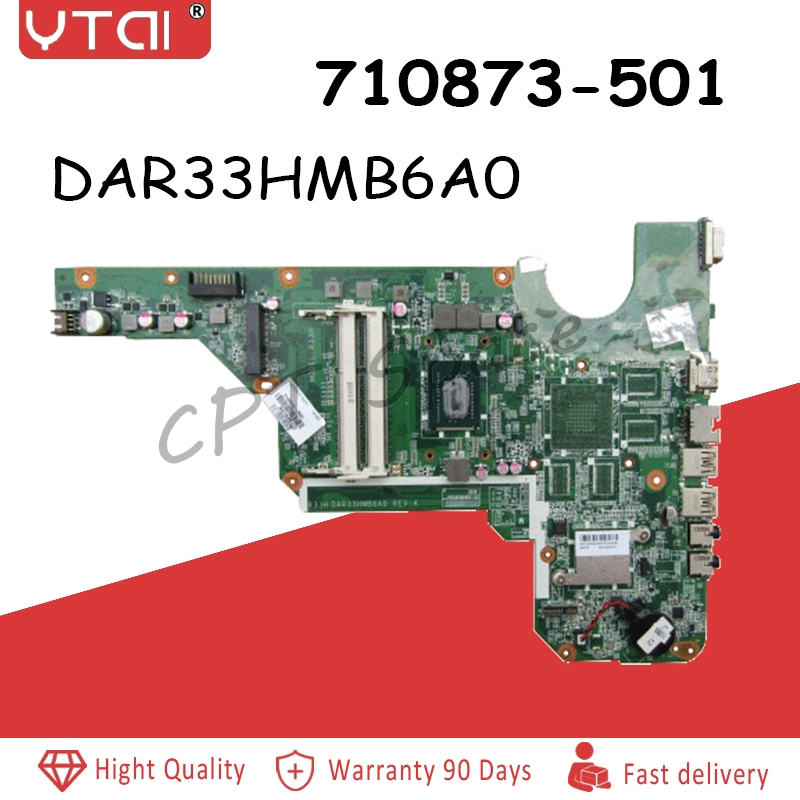 DAR33HMB6A0 DAR33HMB6A1 motherboard For HP G4-2000 G6-2000  Laptop motherboard 710873-001  710873-501 100% tested intactDAR33HMB6A0 DAR33HMB6A1 motherboard For HP G4-2000 G6-2000  Laptop motherboard 710873-001  710873-501 100% tested intact