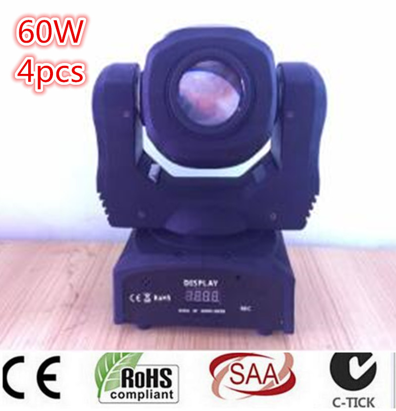 60W LED Spot Moving Head Light/USA Luminums LED lamp Light 60W gobo moving heads lights super bright LED DJ disco light