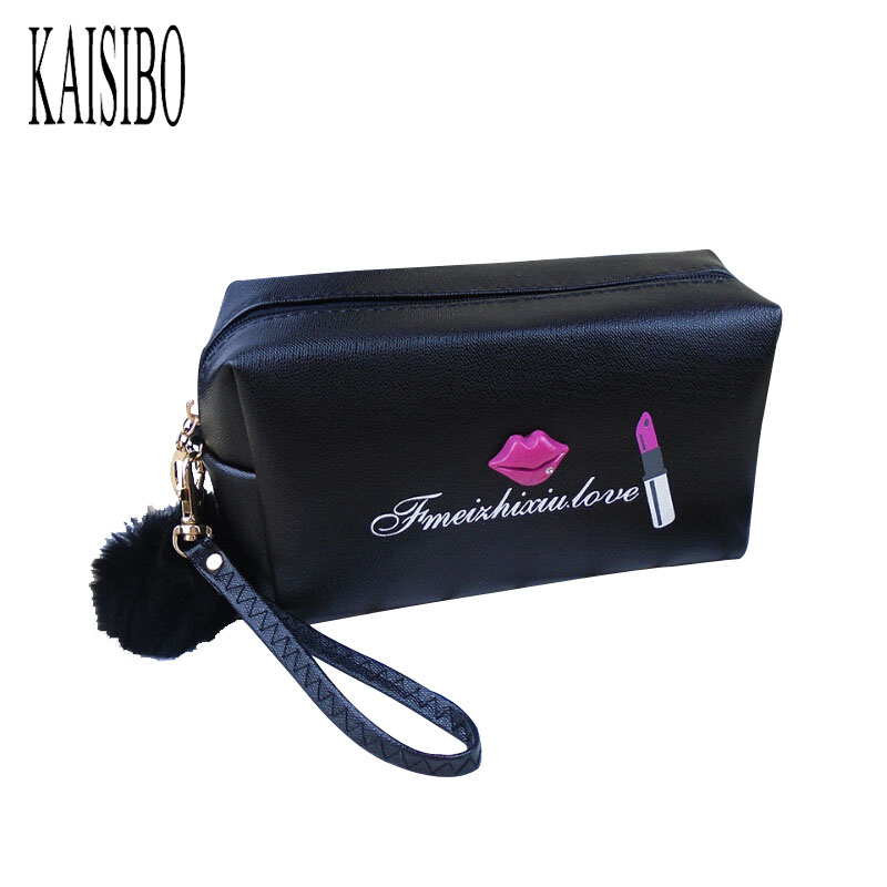 KAISIBO Women Printing Cosmetic Bags Necessaire Makeup Bag 2017 New Lady PU Toiletry Bag Organizer Storage