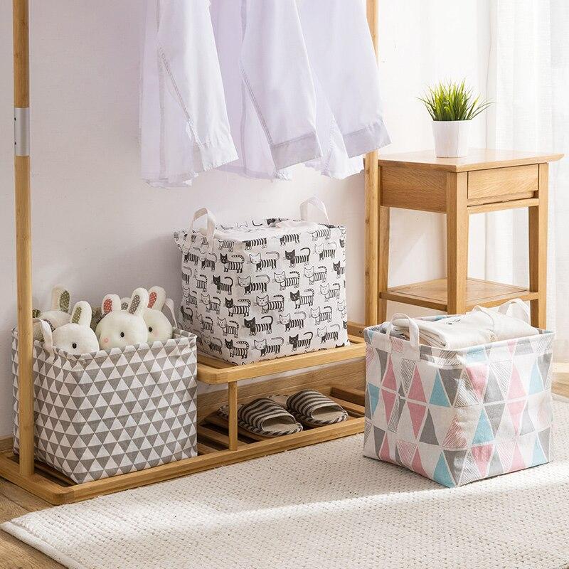 Folding Laundry Storage Basket for Toys Geometry Storage Barrel Standing Clothing Storage Bucket Laundry Organizer Holder bags Storage Baskets  - AliExpress