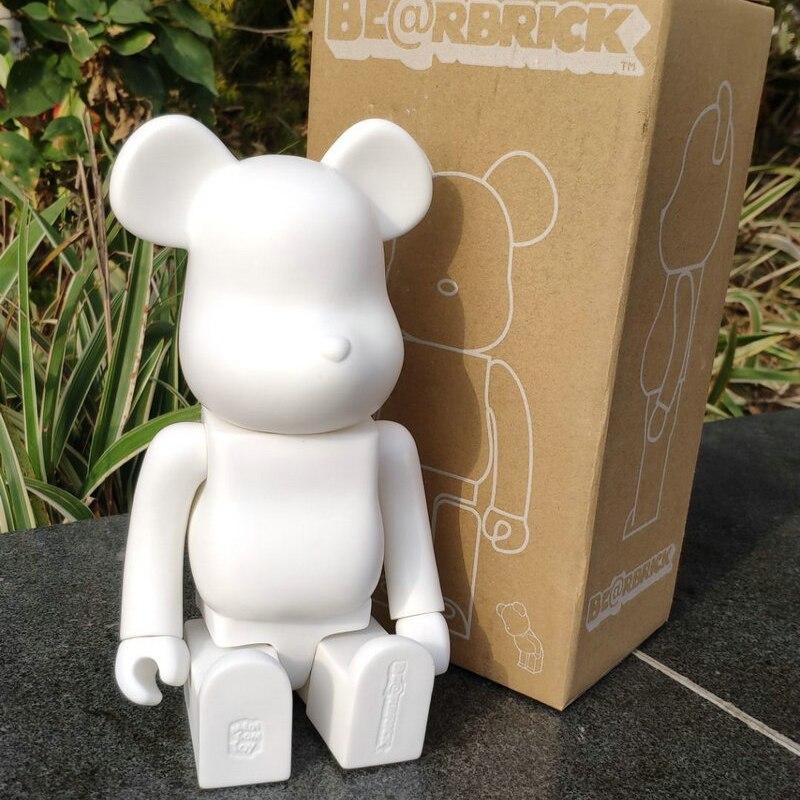 Polegada 400% Bearbrick Urso 11 @ Urso Bloco de tijolo Figuras de Ação PVC Figuras Modelo Crianças Presentes DIY Pintura Bonecas Crianças brinquedos
