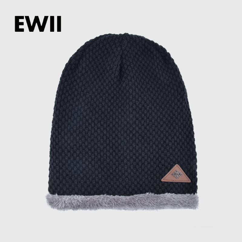 2017 Moda beanie chapéus de inverno para homens malha cap gorro pai dos homens  skullies gorros chapéu morno menino casual bonés gorro feminino fe8223ee855